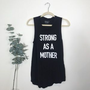 Strong as a Mother Black Muscle Tee | Small
